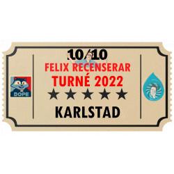 Biljett till Felix Recenserar i Karlstad!