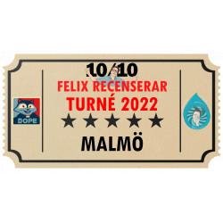 Biljett till Felix Recenserar i Malmö!