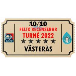 Biljett till Felix Recenserar i Västerås!