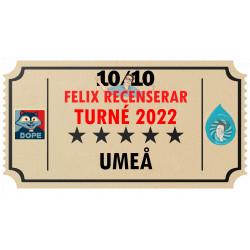 Biljett till Felix Recenserar i Umeå!